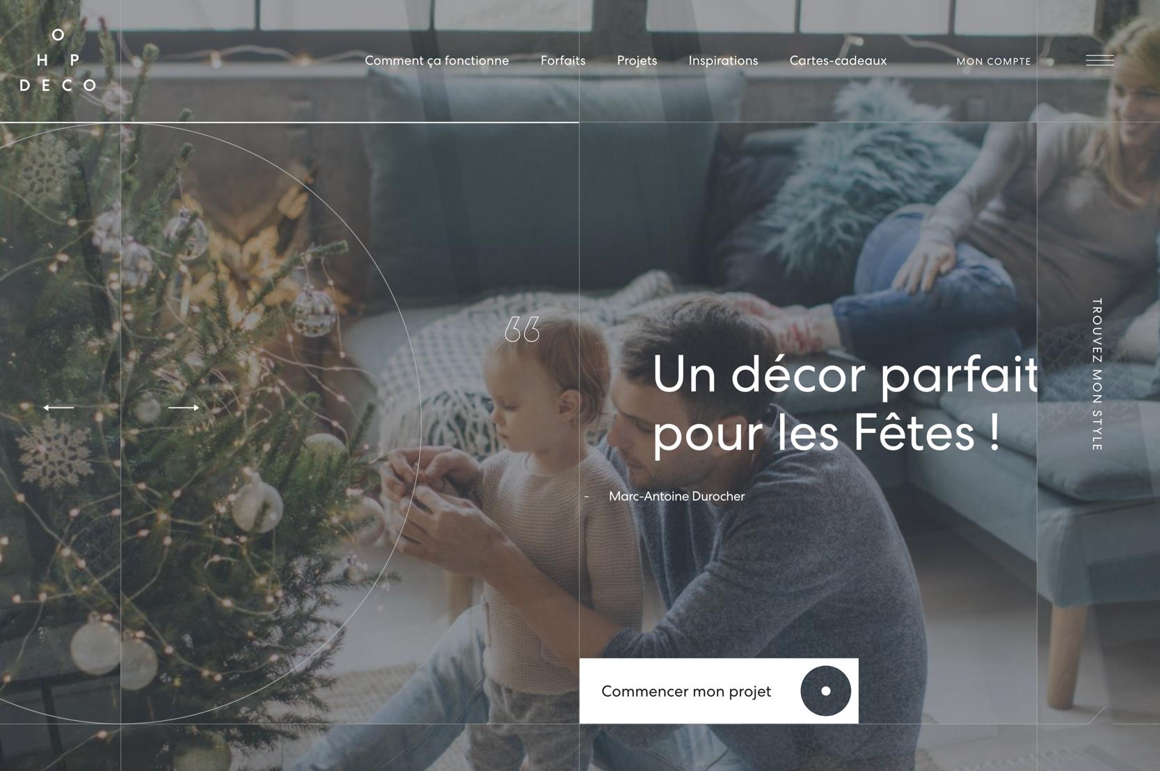 Site Internet Decoration Intérieure hop deco, un site web de décoration intérieure nouveau genre